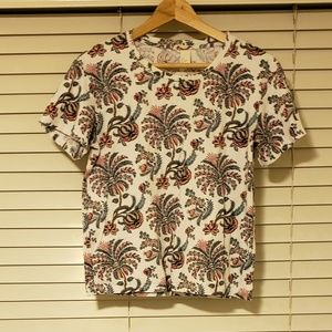 H&m funky floral boxy fit tshirt size small